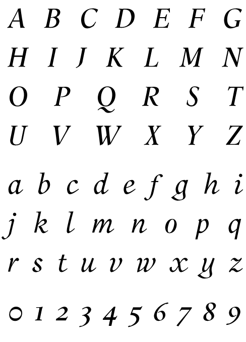 Aalborg Oblique Font from the library of PSY/OPS Type Foundry
