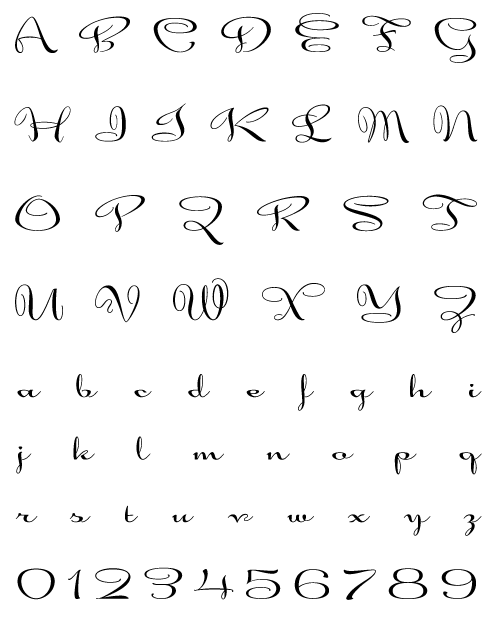 Alphaluxe - Uppercase, Lowercase and Numerals
