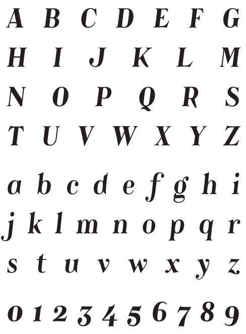Catacumba_BoldItalic - Uppercase, Lowercase and Numerals