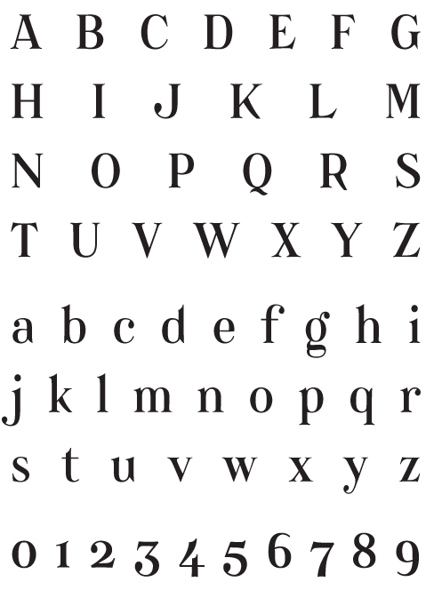 Catacumba_Regular - Uppercase, Lowercase and Numerals