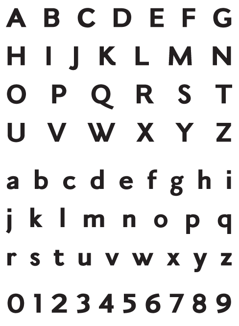 Leyden Black Sans - Uppercase, Lowercase and Numerals
