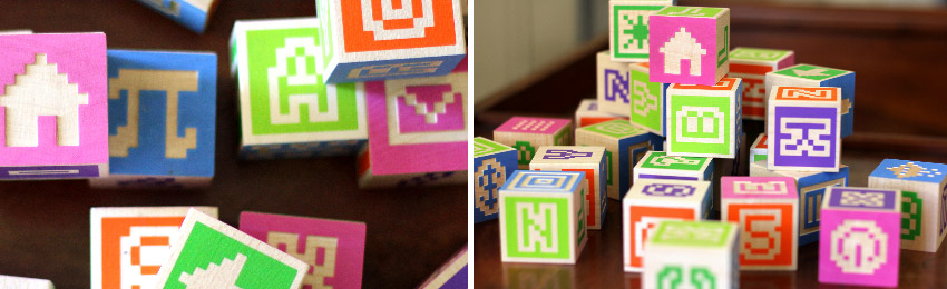 Hand-manufactured Alphabet Blocks