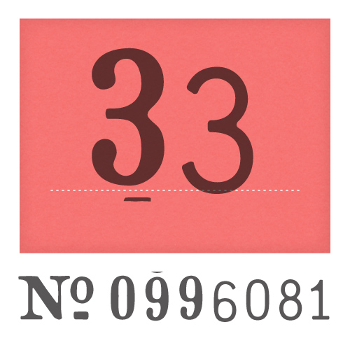 Crash Numbering - PSY/OPS Type Foundry