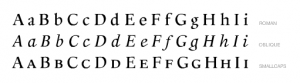 AALBORG font style lines