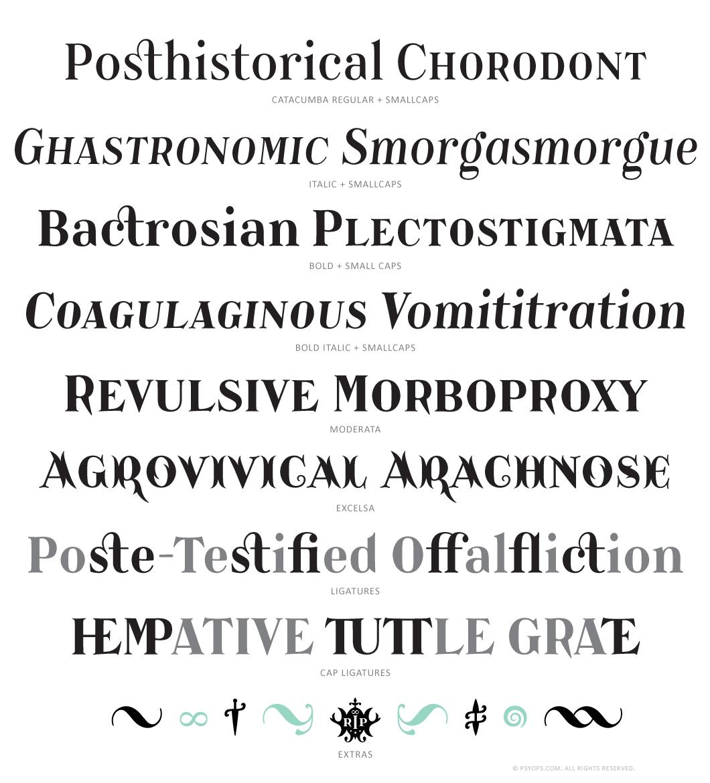Catacumba Font Specimen