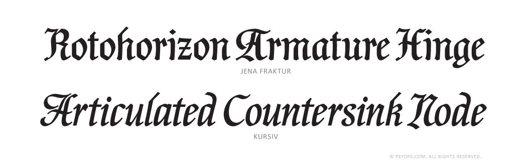 Jena Font Specimen - PSY/OPS Type Foundry