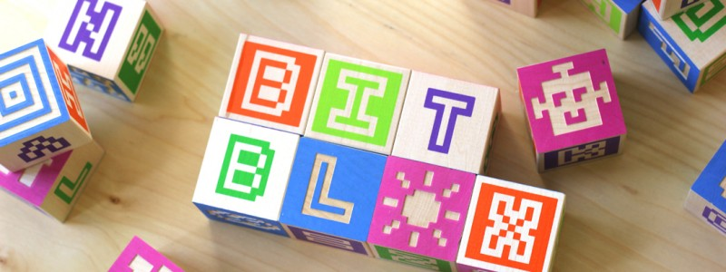 Bitblox - Pixel Type Wooden Alphabet Blocks