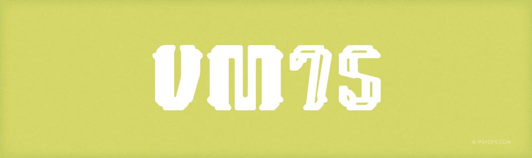 VM75 Font Header