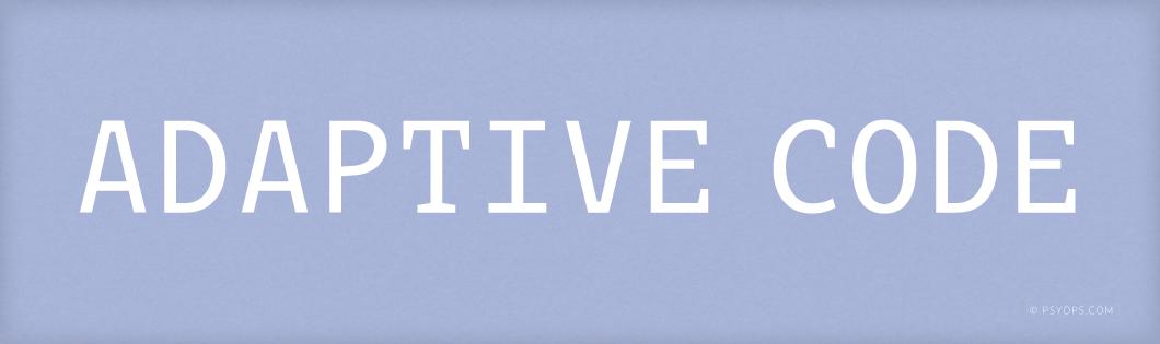 Adaptive Code Font Header