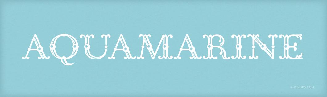 Aquamarine Font Header