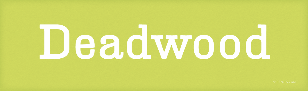 Deadwood Font Header