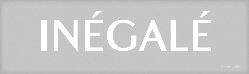 Inégale Font Header