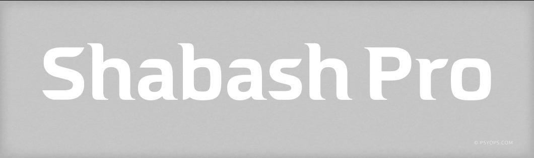 Shabash Pro Font Header