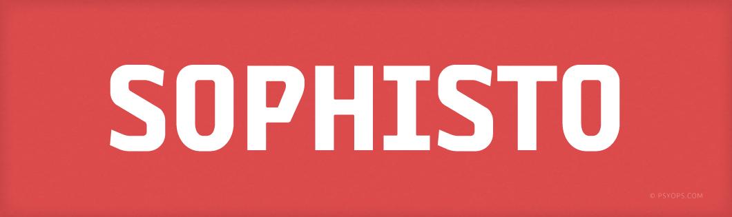 Sophisto Font Header