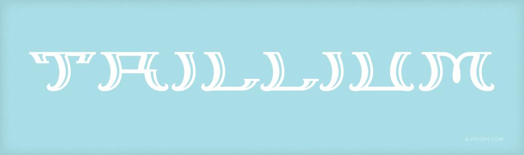 Trillium Font Header