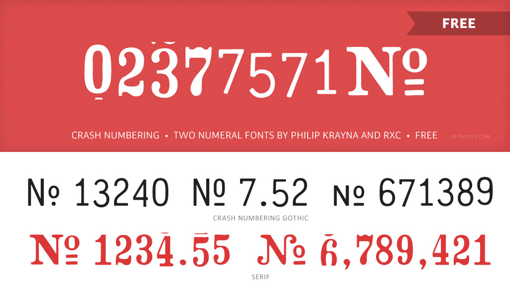 Crash Numbering Font Free