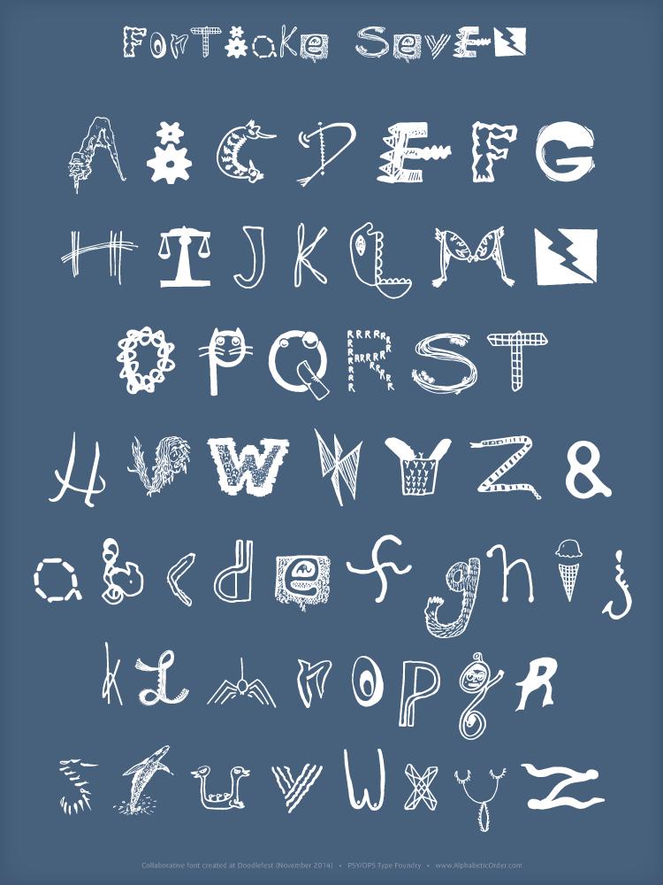 FontBake Seven Poster