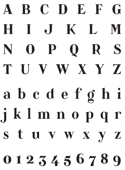 Catacumba_Bold - Uppercase, Lowercase and Numerals