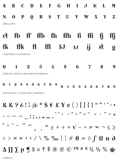 Catacumba_Bold - Small Caps, Ligatures, Alternates, Tabular lining & Non lining Numerals, Superscript & Subscript Numerals, Symbols