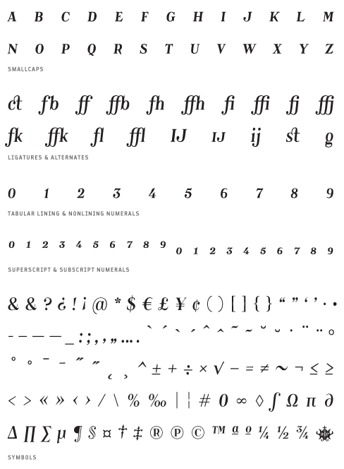 Catacumba_Italic - Small Caps, Ligatures, Alternates, Tabular lining & Non lining Numerals, Superscript & Subscript Numerals, Symbols