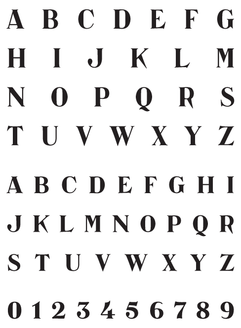 Catacumba_Moderata - Uppercase, Lowercase and Numerals