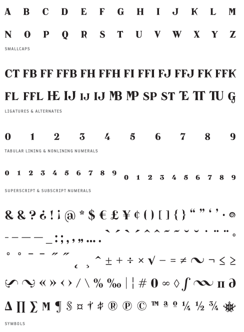 Catacumba_Moderata - Small Caps, Ligatures, Alternates, Tabular lining & Non lining Numerals, Superscript & Subscript Numerals, Symbols