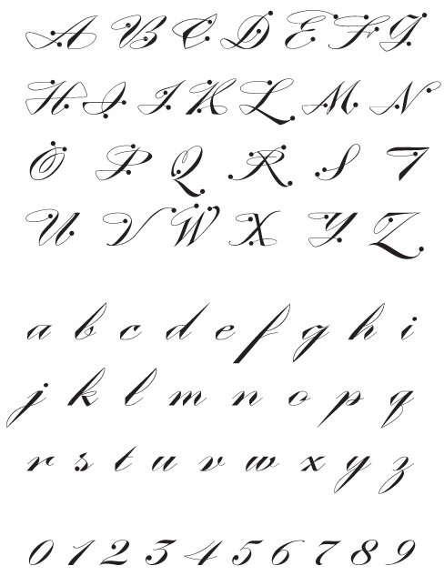 ContempoElan_Ornamental - Uppercase, Lowercase and Numerals