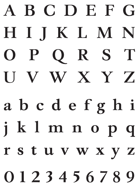 Leyden Bold - Uppercase, Lowercase and Numerals