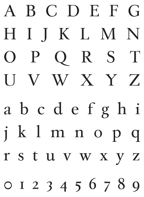 Leyden_Regular - Uppercase, Lowercase and Numerals
