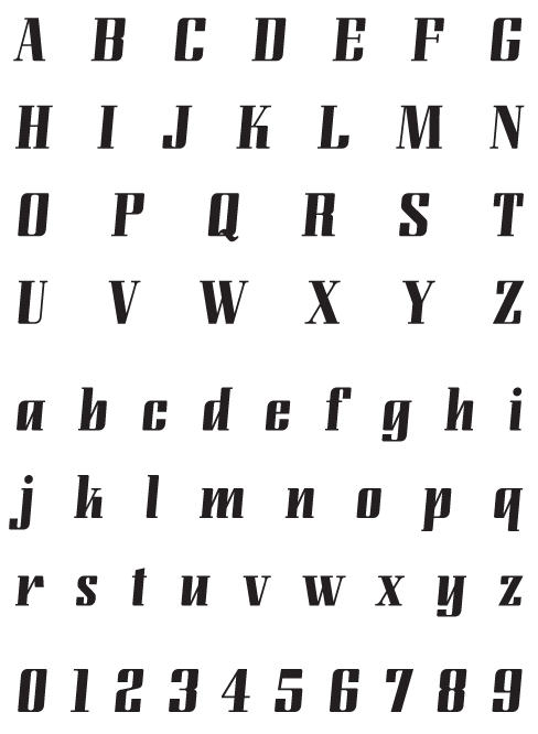 LundaModern_Bold - Uppercase, Lowercase and Numerals