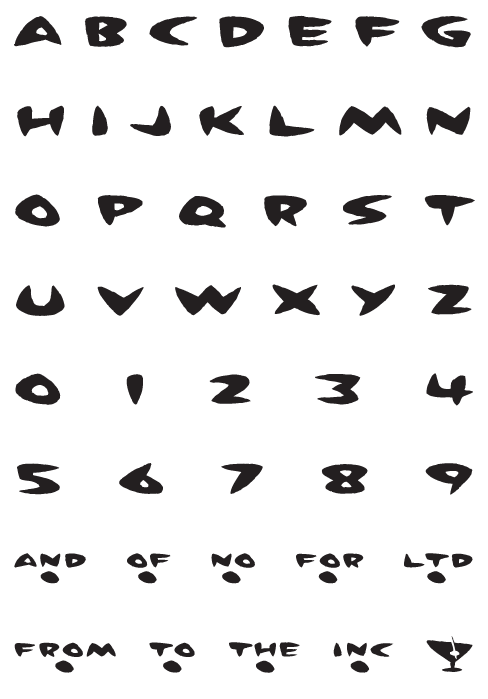MartiniAtJoes_Brush - Uppercase, Numerals and Symbols