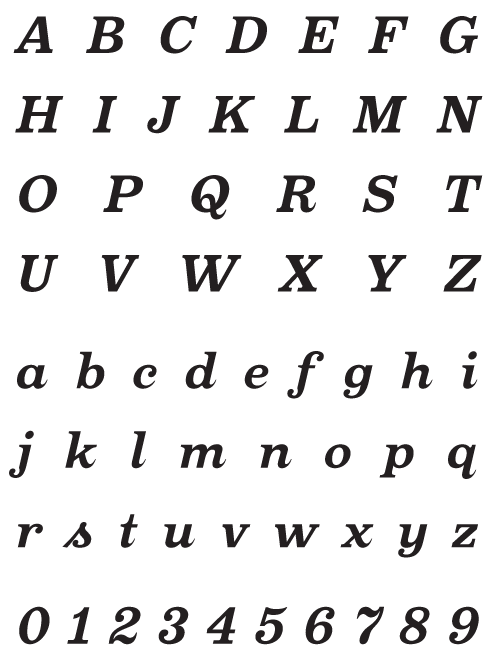 Oxtail_BoldItalic - Uppercase, Lowercase and Numerals