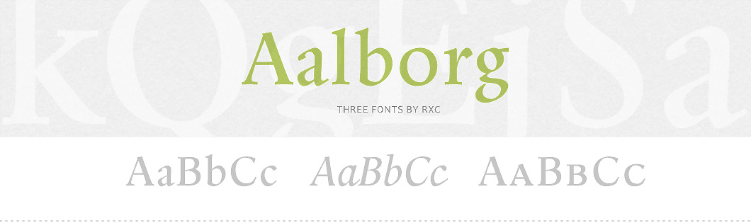 Aalborg Font Family from the library of PSY/OPS Type Foundry