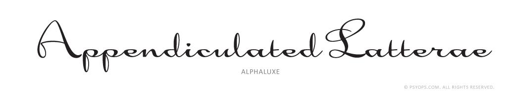 Alphaluxe Font Specimen