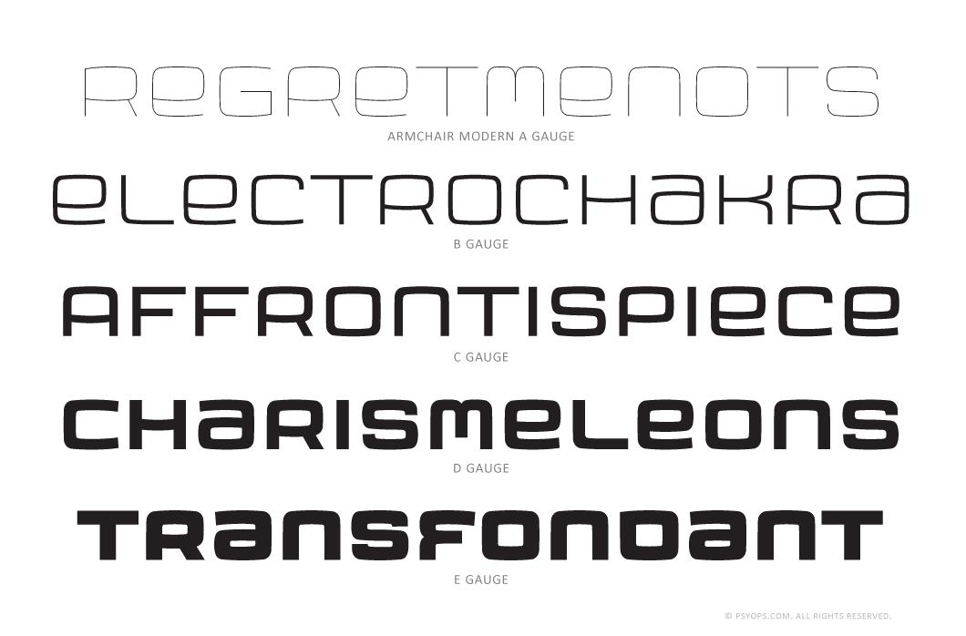 Armchair Modern Font Specimen