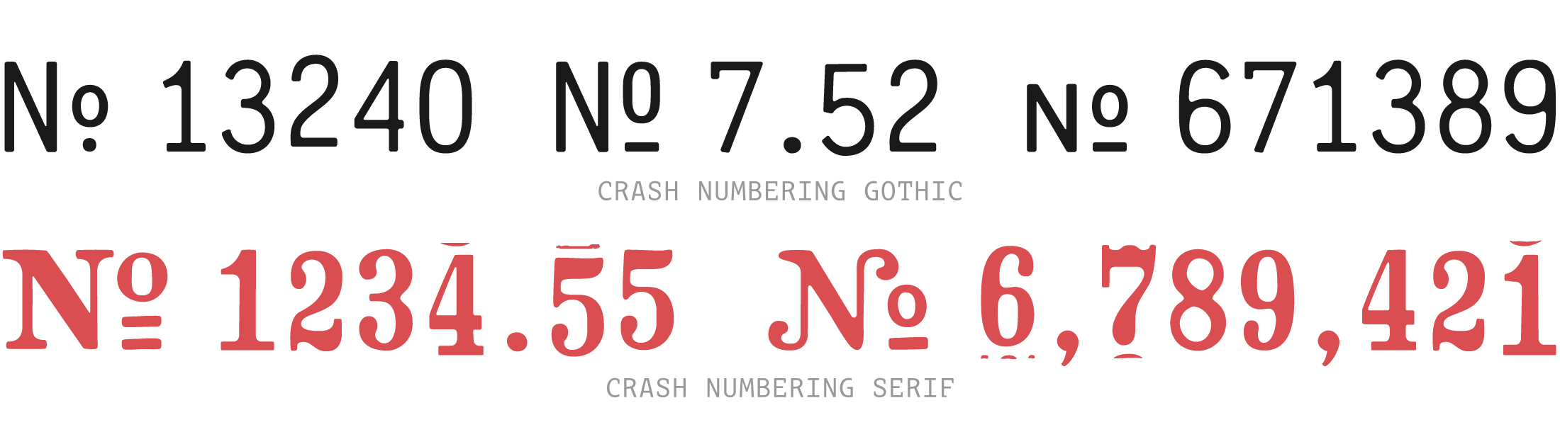 Crash-Numbering-Font-Specimen