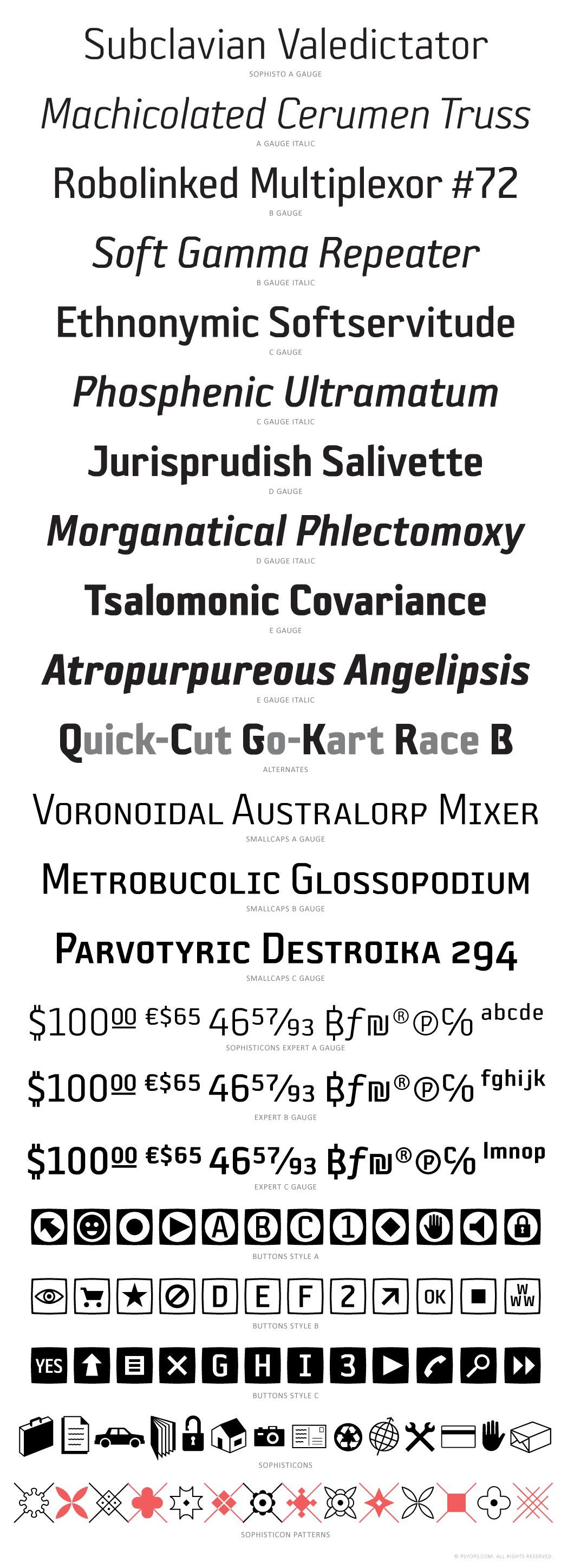 Sophisto Font Specimen