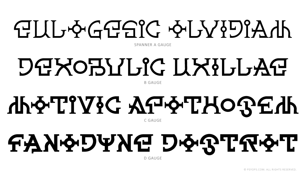 Spanner Initials - Font Specimen