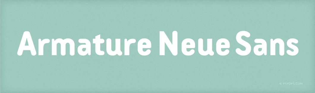 Armature Neue Sans Font Header