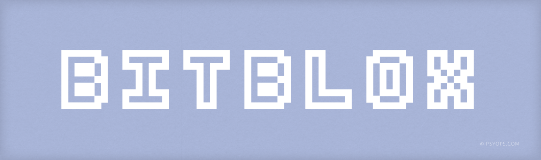 Bitblox Font Header