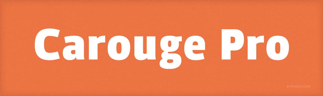 Carouge Pro Font Header