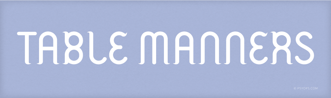 Table Manners Font Header