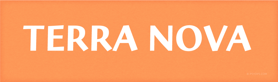 Terra Nova Font Header