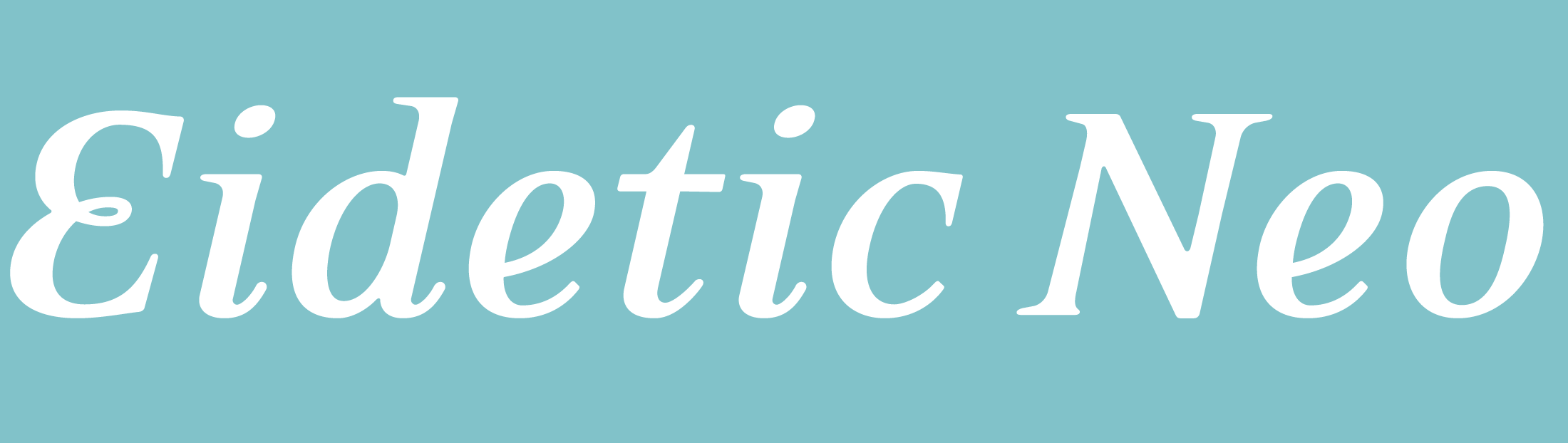 Eidetic Neo - PSY/OPS Type Foundry