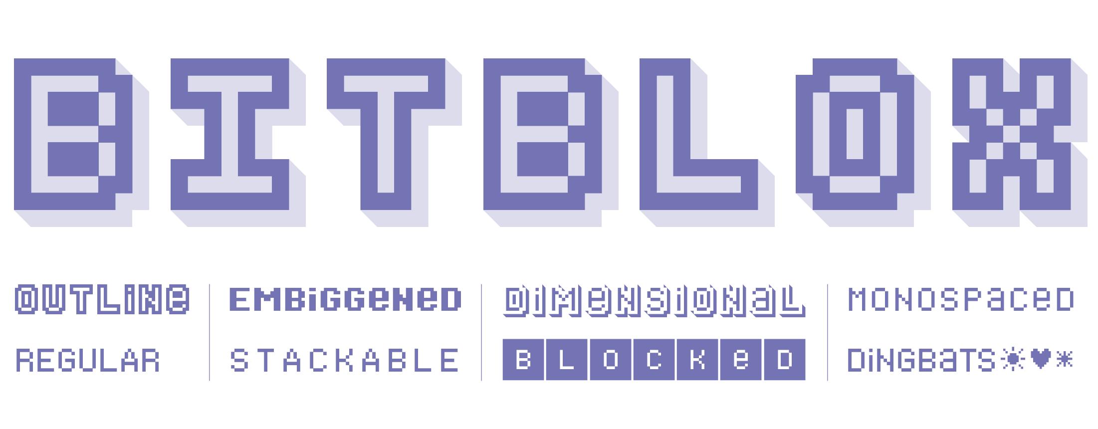 Bonus Bitblox Fonts